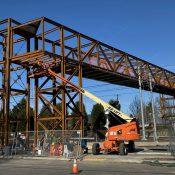 First look at TriMet's new bridge over southeast rail tracks