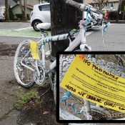 Ghost bike on Southeast Gladsone won't be removed, City says