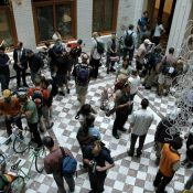 TBT: In 2006 we organized a bike and art show in the atrium of Portland City Hall