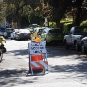 Portland installs first of 100 temporary diverters to tame traffic and create safer streets