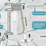PBOT project will build carfree plaza on Couch, build two-way cycle track across Burnside