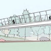 New renderings and open house for carfree bridge over Columbia Blvd in St. Johns
