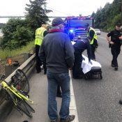 Bicycle rider injured in collision on Highway 30 near St. Johns Bridge