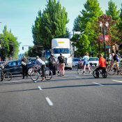Biking the Portland protests and return of Bike Swarm