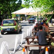 It's cafes instead of cars as Portland restaurants expand into streets