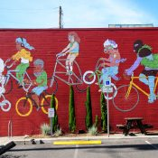 New Central Eastside mural of bike riders goes deeper than you think