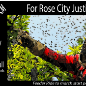 Bike Swarm for Rose City Justice