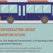 Transit feedback session planned for Metro's transportation bond measure