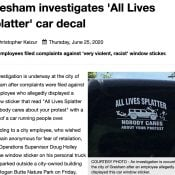 Gresham city employee under investigation for 'All Lives Splatter' sticker