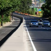 Sneak peek at new physically protected bike path on North Greeley