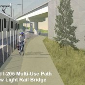 'Better Red' light rail project includes new bike paths near airport, Gateway