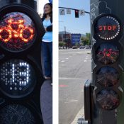 Nifty new bike signal added to Broadway/Williams intersection