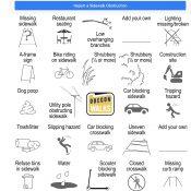 Oregon Walks releases 'Sidewalk Obstruction Bingo' advocacy tool