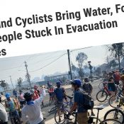 A 'Bike Brigade' is delivering supplies to people stuck inside southern Oregon fire zones