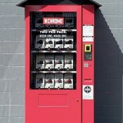 "Chrome vending machine is attempt to ""rethink retail"""