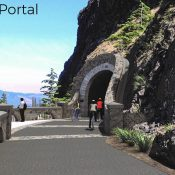 ODOT will build hiker/biker campsites at Viento, releases photos of Mitchell Point Tunnel path