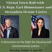 Blumenauer and Ocasio-Cortez to host climate and housing town hall