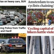 The Monday Roundup: SUV tax in France, scary streets in Bogotá, too many bikes in Amsterdam