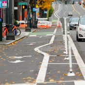 First look at new bike lanes on NW/SW Broadway