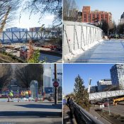 The Flanders Crossing Bridge is born, and a key bikeway comes into focus