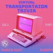 Transportation Trivia (Virtual!)