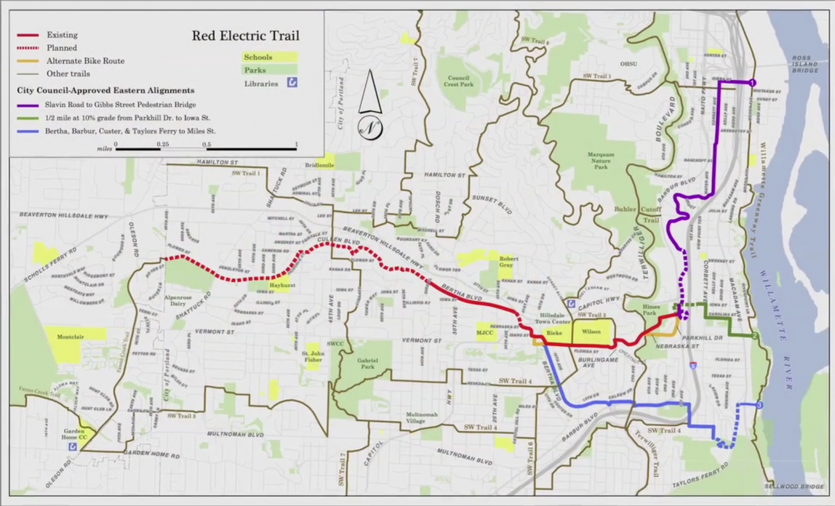 Map of the Red Electric Trail.