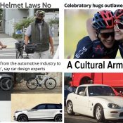 The Monday Roundup: Hug ban, cycling perceptions, design matters, and more