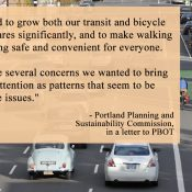 Planning Commission concerned PBOT isn't doing enough to reduce driving