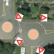 An east Portland greenway will get city's first double mini roundabout