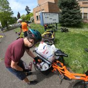 A day with Community Cycling Center's food delivery-by-bike crew