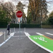First Look: New bike lanes, traffic calming treatments on SW Patton and Greenway