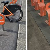Portland will pilot Nike's recycled rubber bike share stations