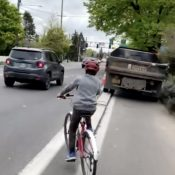 """It's too easy to park in Portland's """"protected"""" bike lanes"""