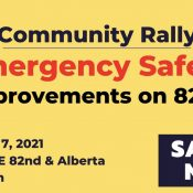Community Rally for Emergency Safety Improvements on 82nd
