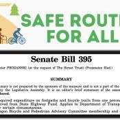 Unhappy anniversary: The bike/walk spending increase bill is dead
