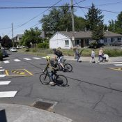First look: New intersection treatment at NE 9th and Emerson
