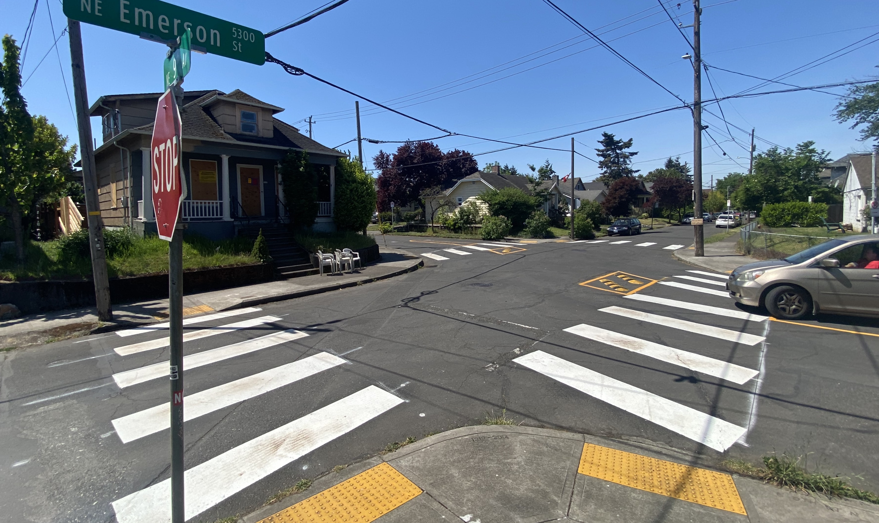First look: New intersection treatment at NE 9th and Webster