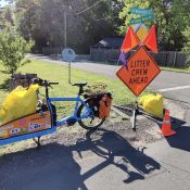 Shawne's latest adventure: Adopt-a-road clean-up by cargo bike