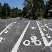 First look: New bike lanes on North Wall between Lombard and Fessenden