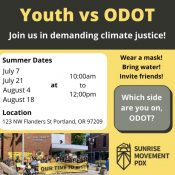 'Enough is enough': Pedalpalooza riders will join youth climate activists at ODOT protest