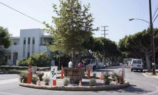 PSU teams with community on mini-roundabout project