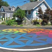 Ride and Learn: Street Intersection Murals