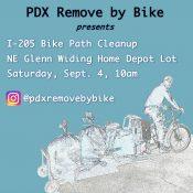PDX Remove By Bike: I-205 Bike Path Cleanup