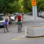 PBOT's new concrete barrels on greenways are a very big deal