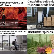 The Monday Roundup: Coping with climate, car ads, carfree park debate, and more