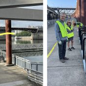New bike racks at Duckworth Dock add security at new ride-to-swim spot