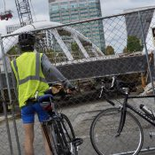 Blumenauer Bridge still not ready for installation as city says it'll be 'a few more weeks'