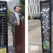 The Hawthorne Bridge bike counter is down, but not out
