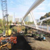 At long last, the Blumenauer Bridge will be installed Saturday night